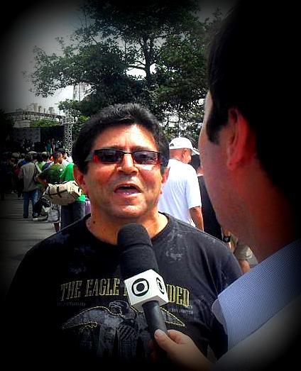 Luiz em entrevista a Rede Globo de Televisão